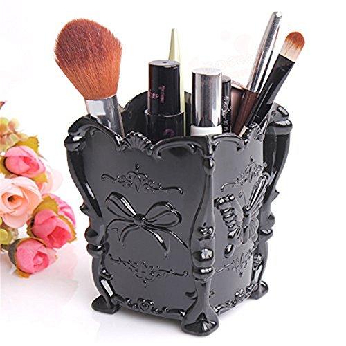 Makeup Cosmetic Storage Box Case Brush Pen Holder Organizer Decorative Black