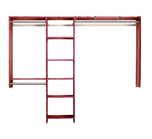 Cedar Green 801 Aromatic Cedar Complete Closet Kit 14-Feet of Shelving 10-Feet for Hanging and Hardware