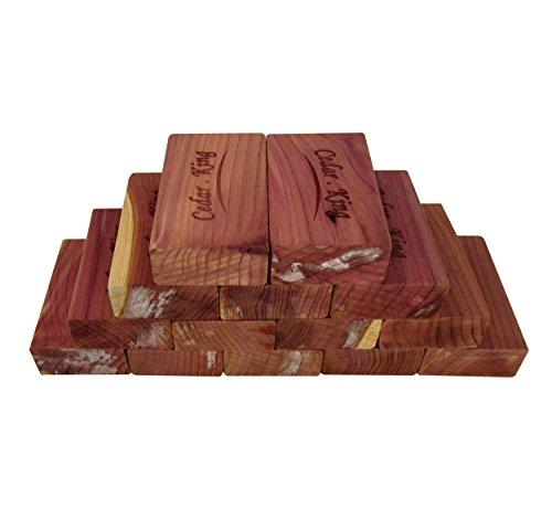 Closet Essentials Cedar King blocks Insect And Moth Repellent Closet and Drawer Storage Protector 1- Box 14 Blocks