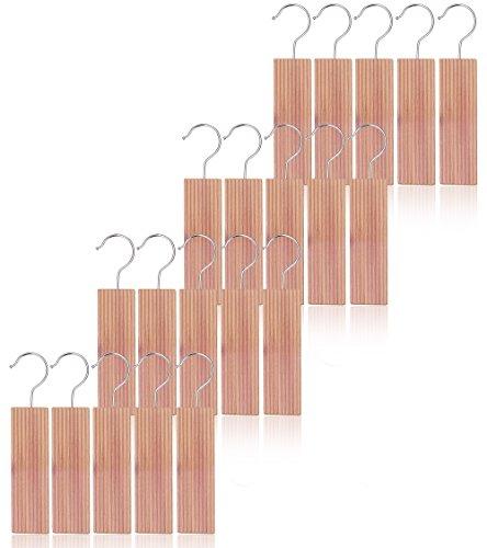 Kilocircle 20 pack cedar hang ups-nature moth repellent for closet with cedar fragrance-standard size 65''x19'X05