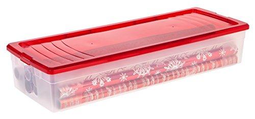 IRIS 30 Gift Wrap Storage Box Red