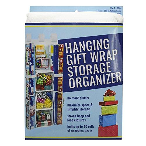 S&T 583601 Hanging Gift Wrap Storage Organizer