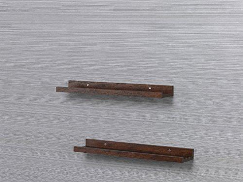 O&K Shelving Solution Large L Shaped Floating Wall Shelf Set of 2 Teak