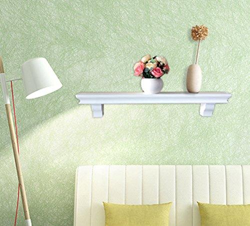 SHELVING SOLUTION Set of 2 Floating Wall Shelf White