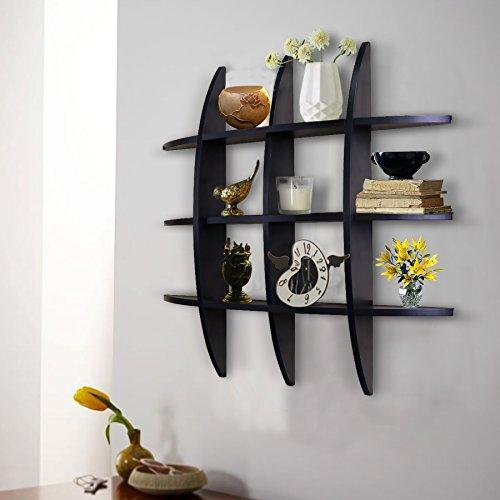 Shelving Solution Cross Display Wall Shelf Black