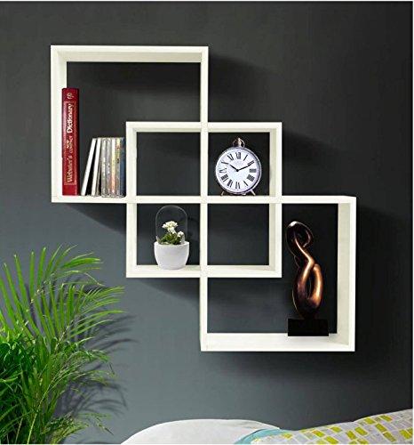 Shelving Solution Quadrate Decorative Wall Shelf white