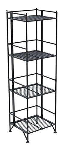 Above Edge 4-Tier Storage Rack Folding Metal Shelf