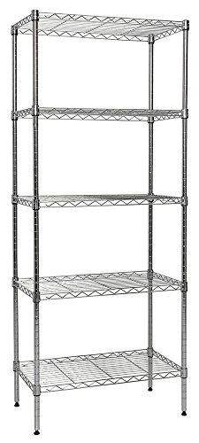 Apollo Hardware Chrome 5-Shelf Wire Shelving 14x24x60 Chrome