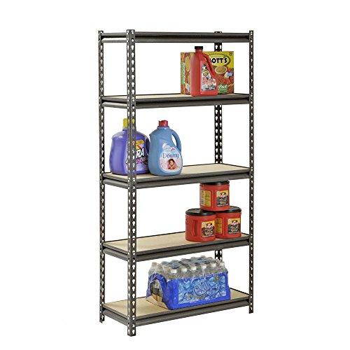 Muscle Rack 5-Shelf Steel Shelving Silver-Vein 12 D x 30 W x 60 H