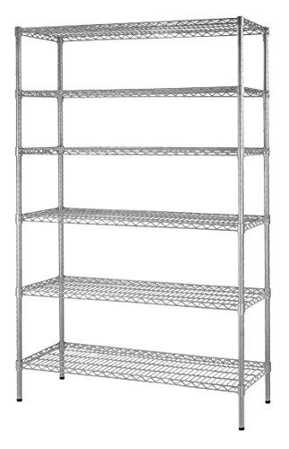 Muscle Rack WS481872-Z  Steel Shelving Unit 6 Shelf 48 Width 72 Height 18 Depth Zinc