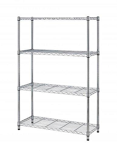36x14x54 4 Tier Layer Shelf Adjustable Steel Wire Metal Shelving Rack by BestOffice