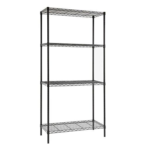 4-Shelf 36 in W x 72 in H x 16 in D Steel Shelving Unit