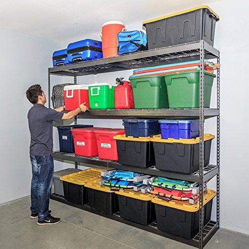 SafeRacks Garage Storage Rack - Hammertone  Steel Shelving Unit  2D x 8W x 7T