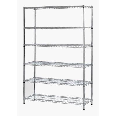 Sandusky 72 in H x 48 in W x 18 in D 6-Shelf Steel Shelving Unit in Zinc
