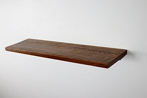 36 x 10 x 1 Rustic Floating Wood Shelf Pine Towels Open Shelving Wooden Shelves
