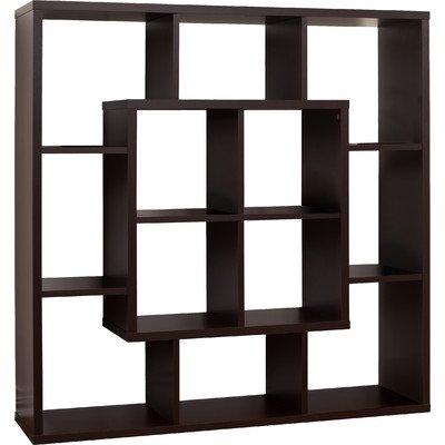 47 Cube Unit Bookcase Open Shelving-Walnut