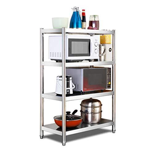 WGZ- Multi-Layer Rack Kitchen Storage Rack Stainless Steel Storage Shelf Four Layers Practical Size  XL
