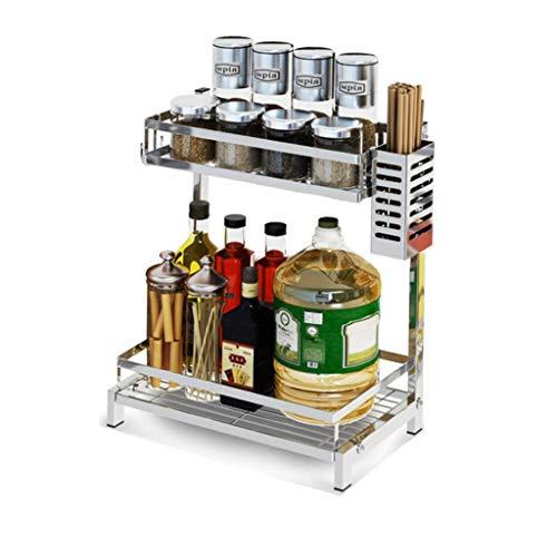 WGZ- Multi-Layer Rack Kitchen Storage Rack Stainless Steel Storage Shelf Two Layers Practical