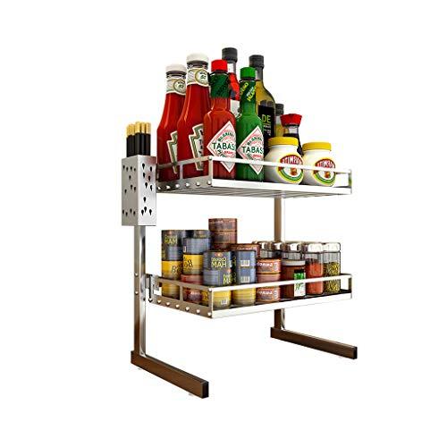 ZLZ- Multi-layer rack Kitchen storage rack Stainless steel Storage shelf Two layers Simple Size  M