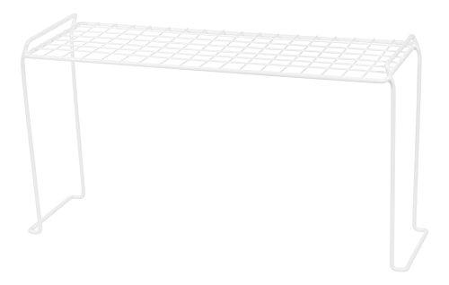 IRIS Heavy Duty Wire Stacking Shelf Medium White