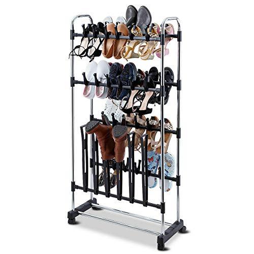 DSA Trade Shop 36 Pairs Clip On Shoe&Boot Rack Adjustable Storage Shelf Holder Space Organizer