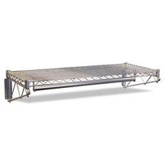 Steel Wire Wall Shelf Rack 48w x 18-12d x 7-12h Silver
