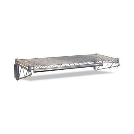 Alera Steel Wire Wall Shelf Rack 48w x 18d x 7-12h Silver