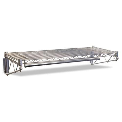 Alera WS4818SR Steel Wire Wall Shelf Rack 48w x 18-12d x 7-12h Silver