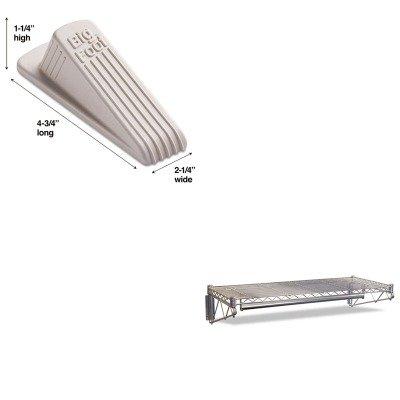 KITALEWS3618SRMAS00900 - Value Kit - Best Steel Wire Wall Shelf Rack ALEWS3618SR and Master Mfg 00900 Big Foot Doorstop Beige MAS00900