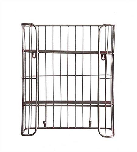 Silver Wire Wall Shelf Hooks - Set Of 2