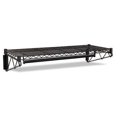 Steel Wire Wall Shelf Rack 36w x 18-12d x 7-12h Black - ALEWS3618BL