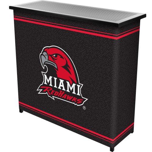 NCAA Miami University Two Shelf Portable Bar with Case