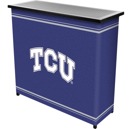 NCAA Texas Christian University Two Shelf Portable Bar with Case