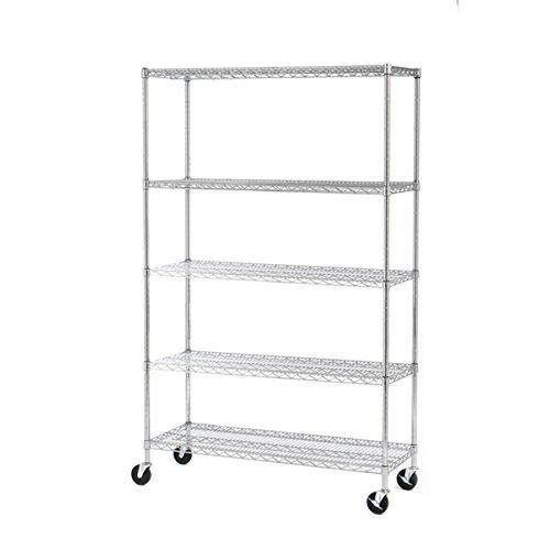 Seville Classics 5-shelf UltraZinc Steel Wire Shelving System 18D x 48W x 72-75H
