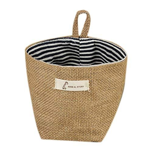 Junnire Home Decoration Polka Dot Stripes With Handles Storage Basket Shelf Baskets