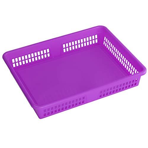 Ybm Home Plastic Storage Baskets  Drawer Organizer 8600-large 1 Purple