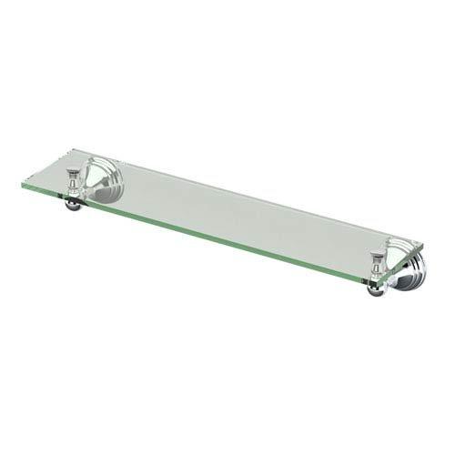 Gatco 4356 Charlotte Glass Shelf Chrome