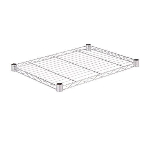 Honey-Can-Do SHF350C1824 Steel Wire Shelf for Urban Shelving Units 350lbs Capacity Chrome 18Lx24W