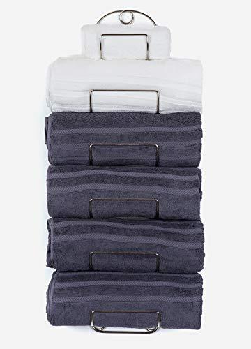 SODUKU Towel Rack Wall Mounted Metal Wine Rack Towel Shelf for Bathroom Chrome
