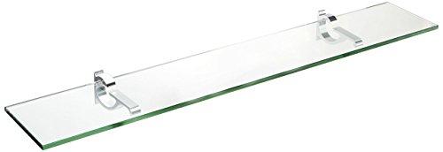 Spancraft Glass Monarch Glass Shelf Chrome 6 x 27