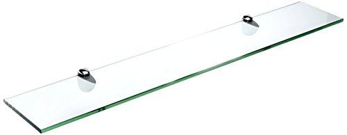 Spancraft Glass Peacock Glass Shelf Chrome 8 x 18
