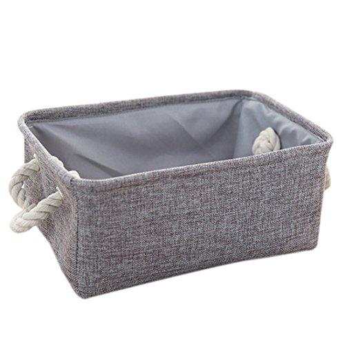 Storage Bin Yamix Foldable Collapsible Linen Canvas Clothes Storage Box Organizers Basket Shelf Storage Bin 161 x 126 x 83 Grey