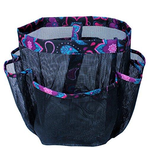 8 Pocket Quick Dry Mesh Shower Caddy Shower Tote Bag for Dorm Gym Camp