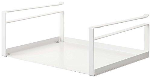 YAMAZAKI home 2443 Shelf Storage Rack-Plate Cabinet Organizer White Medium