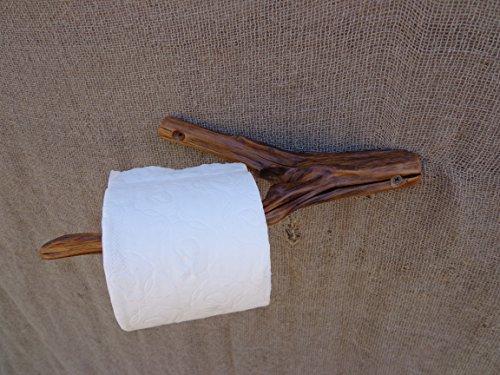 Rare Live Branch Toilet Paper Holder Wooden Toilet Paper Holder Rustic Wood Paper Holder