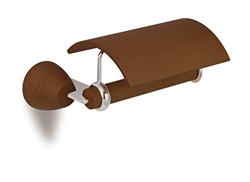 Secret Bath Wooden toilet paper holder Walnut Testa collection