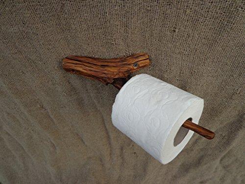 Unusual Live Branch Toilet Paper Holder Wooden Toilet Paper Holder Rustic Wood Paper Holder Wooden Bathroom Salvaged Wood Holder