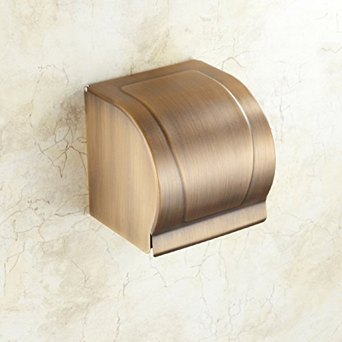HCP All-copper antique tissue box Paper towel holderToilet paper boxHanging wall Toilet paper holderBathroom Shelves