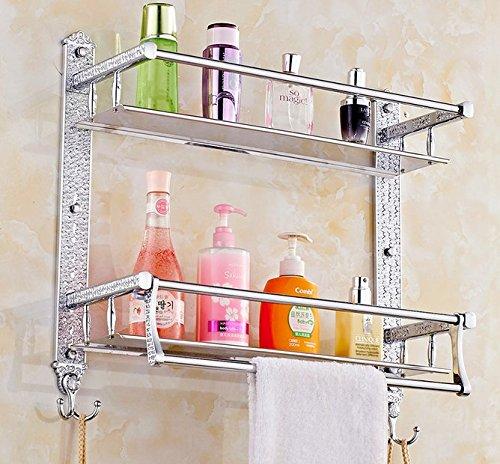 ASIBG Home Bath towel holder stainless steel Towel rack bathroom toilet thickened racks wall mounted metal Towel rack 60cmB