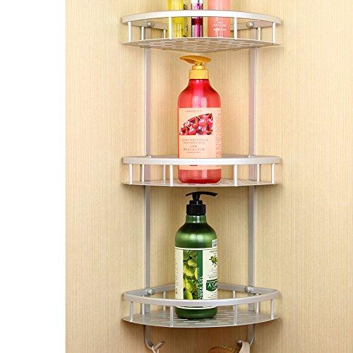 Aluminum bathroom storage rack space metal Towel rackBathroom wall mounted racks-D
